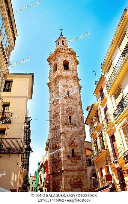 Santa Catalina church tower in Valencia Spain