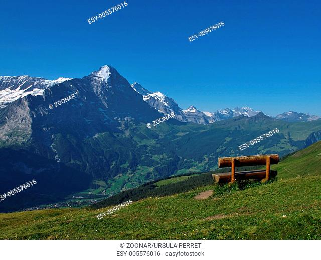 Bench With View Of The Eiger, Grindelwald