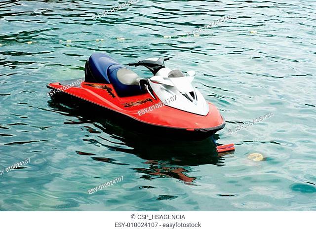 jet ski  on the sea background
