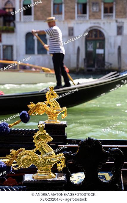 Gondola detail. Venice, Italy