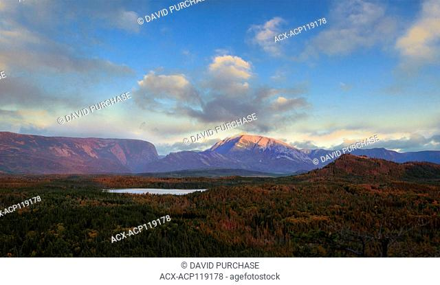 View of Gros Morne Mountian at Sunset, Gros Morne National Park, Newfoundland and Labrador