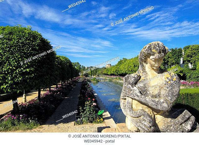 Alcazar of the Christian Kings gardens, Córdoba. Andalusia, Spain