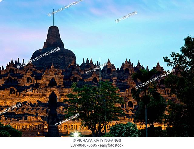 Borobudur Temple at Dusk