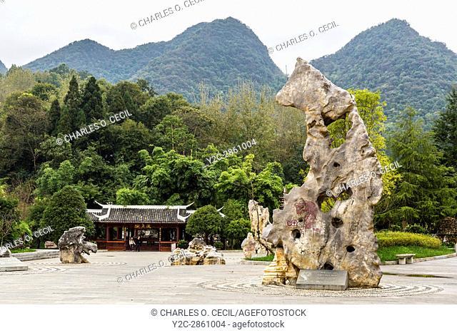 China, Guizhou. Entrance to Dragon Palace Scenic Area