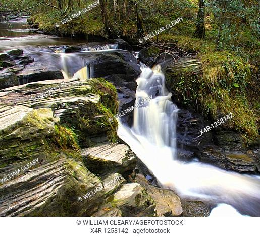 Glenbarrow Waterfall, Slieve Bloom Mountains, Clonaslee, Co  Laois, Ireland