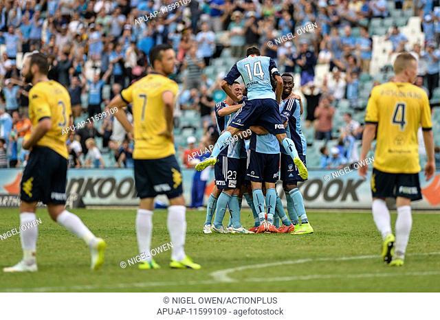 2015 Hyundai A-League Sydney FC v Central Coast Feb 21st. 21.02.2015. Sydney, Australia. Hyundai A-League. Sydney FC versus Central Coast
