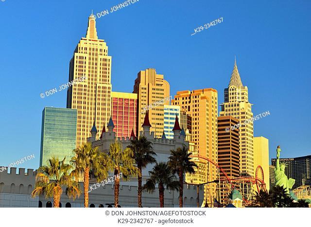 New York New York resort hotel, Las Vegas, Nevada, USA