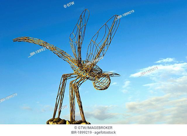 Modern statue of a dragonfly, Cienfuegos, Cuba