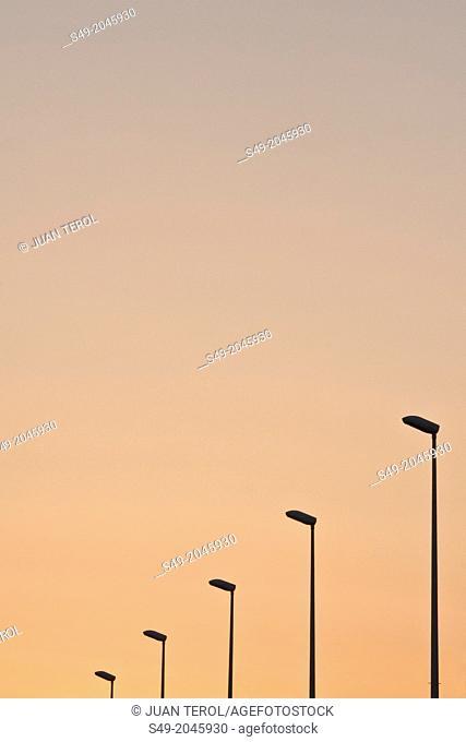 Streetlight. Valencia. Spain
