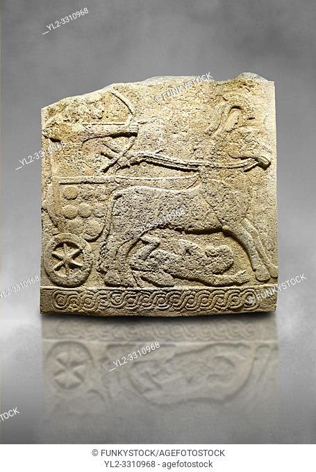 Hittite relief sculpted orthostat stone panel of Long Wall Limestone, Karkamıs, (Kargamıs), Carchemish (Karkemish), 900 -700 B. C