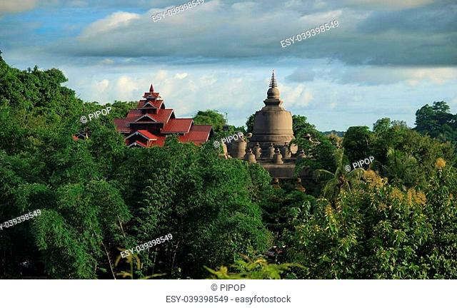 Mrauk U is an archaeologically important town and capital of Mrauk U Kingdom. Rakhine is a state in Burma, Situated on the western coast