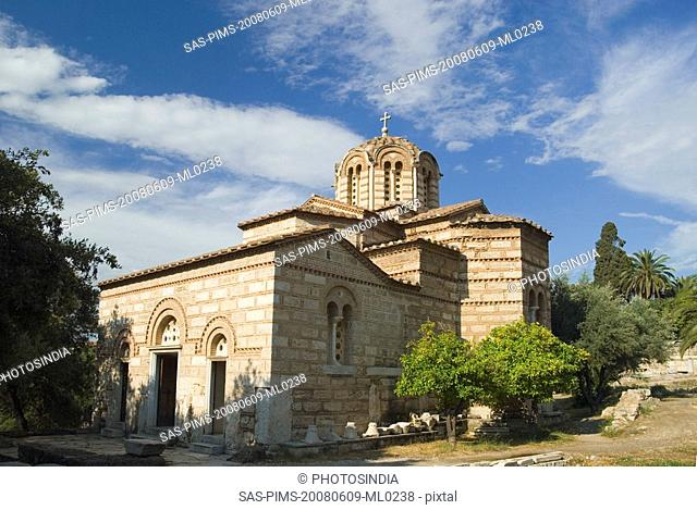 Ruins of an ancient church, Church of The Holy Apostles, The Ancient Agora, Athens, Greece
