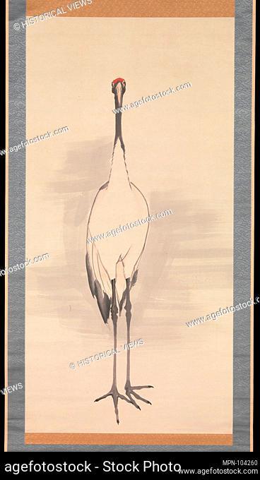 é¶'å›³/Cranes. Artist: Nagasawa Rosetsu (Japanese, 1754-1799); Period: Edo period (1615-1868); Date: 1780s; Culture: Japan; Medium: Pair of hanging scrolls; ink...