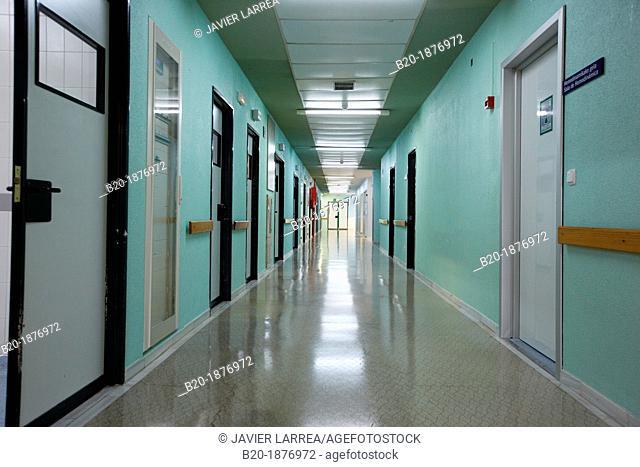 Operating room corridor, Surgery, Hospital Donostia, San Sebastian, Gipuzkoa, Basque Country, Spain