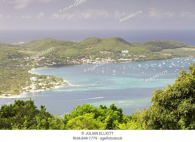 The tropical island paradise of Martinique, West Indies, Caribbean, Central America