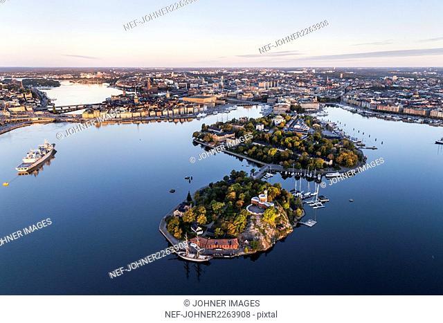 Aerial view of Kastellholmen, Sweden