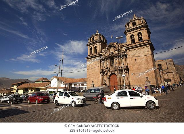 View to the San Pedro Church-Templo De San Pedro at the historic center, Cusco, Peru, South America