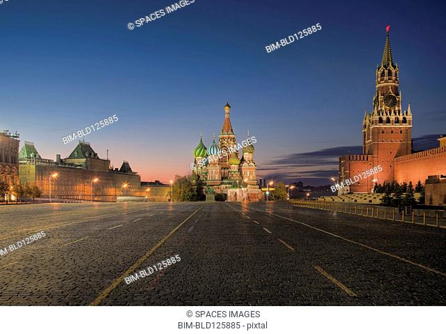 Kremlin, Saint Basil's Cathedral, and Red Square, Moscow, Russia