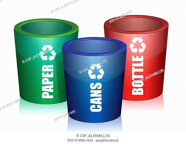 Colorful Bins For Collection