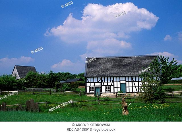 Open-air museum Lindlar near Bever dam Bergisches Land North Rhine-Westphalia Germany Bergisches Freilichtmuseum