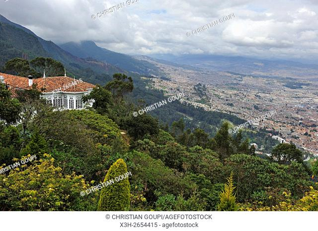 Casa Santa Clara restaurant at the top of the Monserrate Mountain, Bogota, Colombia, South America