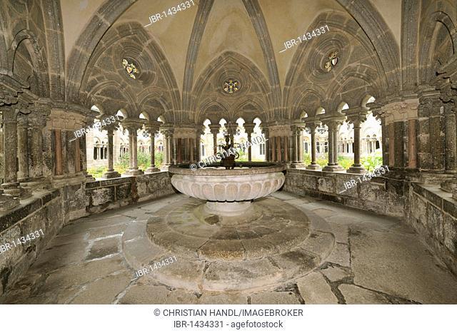 Romanesque fountain, Stift Zwettl Cistercian monastery, Waldviertel region, Lower Austria, Austria, Europe