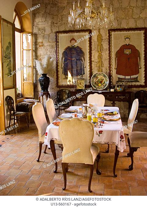 Dinning Room In A Private Home At Morelia Michoacan Mexico