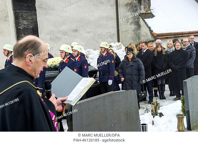 The funeral service for the Swiss-Austrian actor Maximilian Schell in Kaernten, Austria, 08 February 2014. Schell died at the age of 83 after a sudden and...