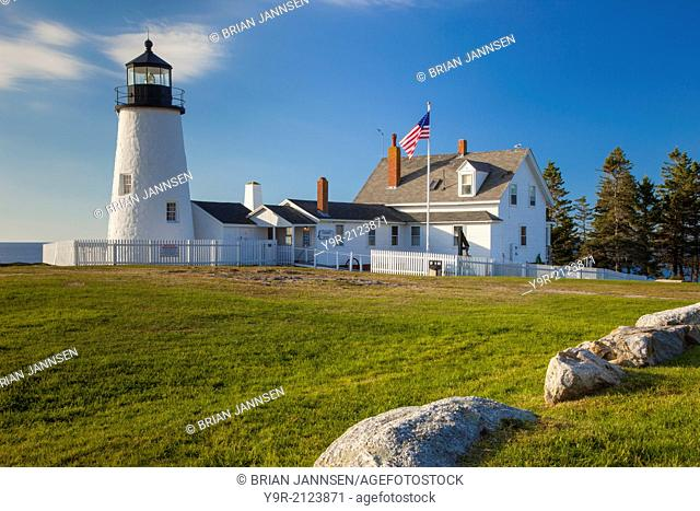 Pemaquid Point Lighthouse near Bristol, Maine, USA