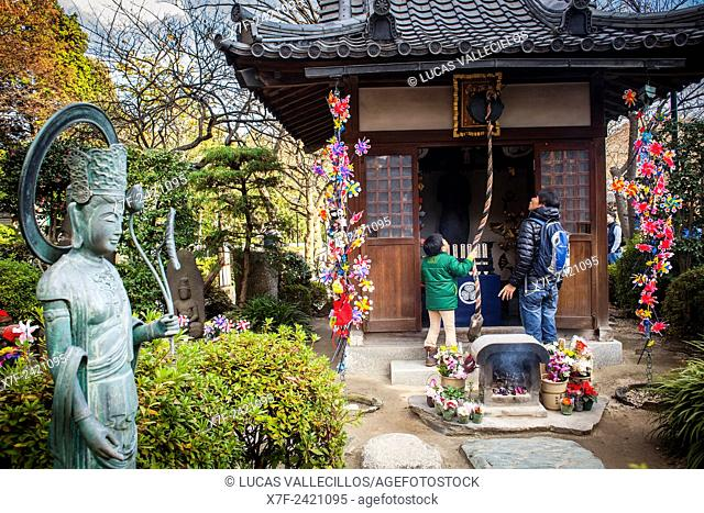 Temple area dedicated to dead unborn children, in Zojoji temple, Tokyo, Japan