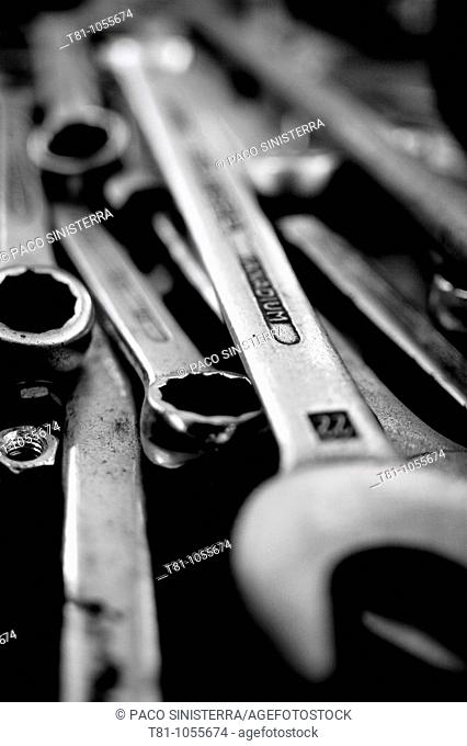 group of tools, wrenches