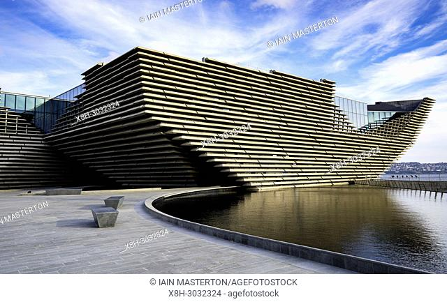 View of newly completed V&A Museum of Design in Dundee, Tayside, Scotland