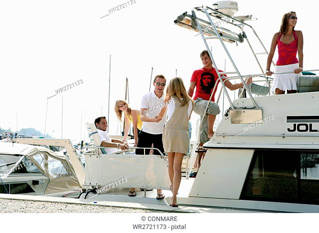 young adults, vacation, yacht, happy, trip, portra