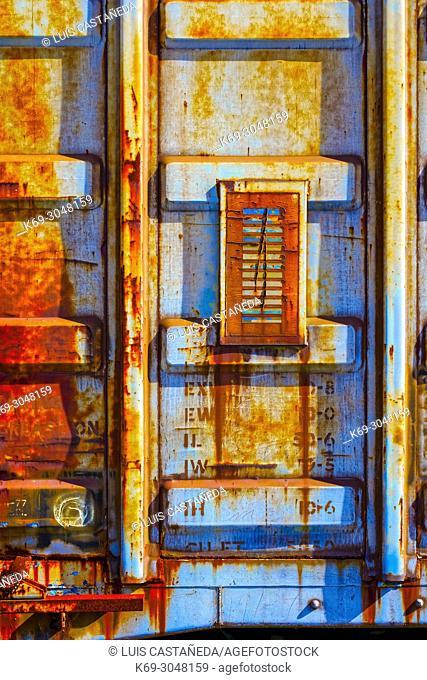 Rusted Metal Pane. Miami. Florida. USA
