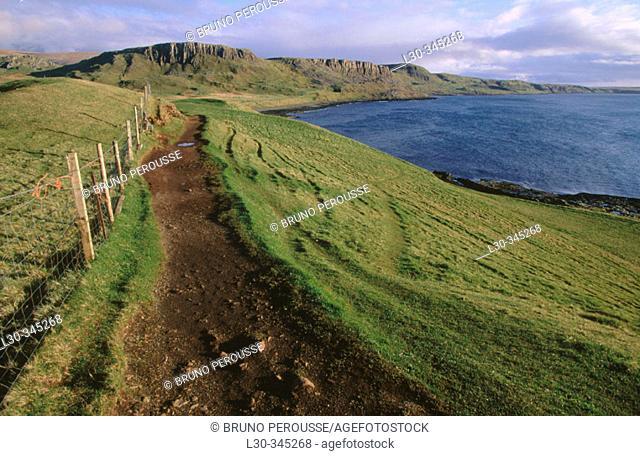 Trotternish peninsula. Isle of Skye. Highlands. Scotland. UK