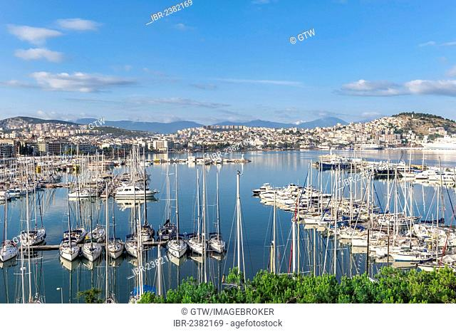 Kusadasi marina and harbor, Izmir Province, Turkey