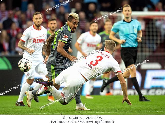 25 September 2018, North Rhine-Westphalia, Cologne: Soccer: 2nd Bundesliga, 1st FC Cologne - FC Ingolstadt 04, 7th matchday in RheinEnergie Stadium
