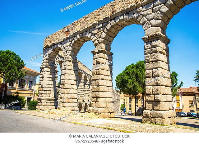 Roman aqueduct. Segovia, Spain