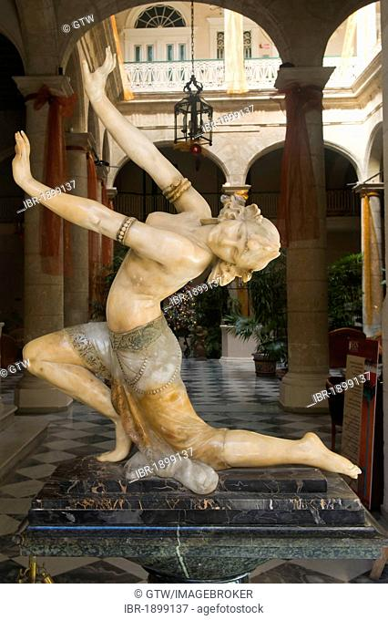 Statue of a dancer in a hotel lobby, Old Havana, Unesco World Heritage Site, Cuba