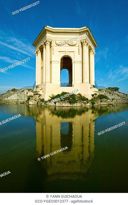 The Park Of Peyrou, Water Tower, Montpellier, Herault, Languedoc-Roussillon, France