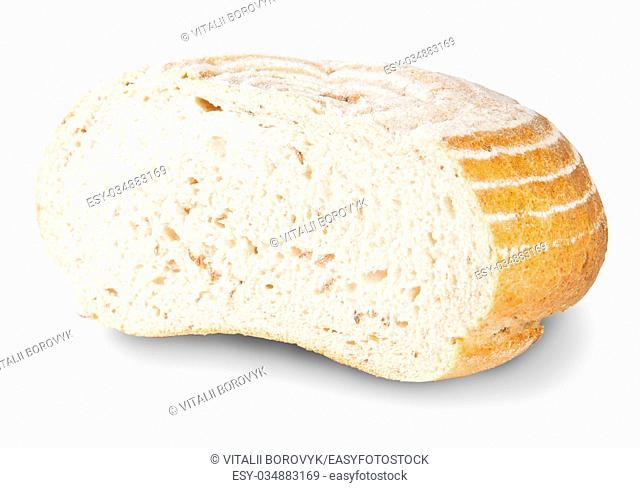 Unleavened Bread Half With Dill Seeds Isolated On White Background