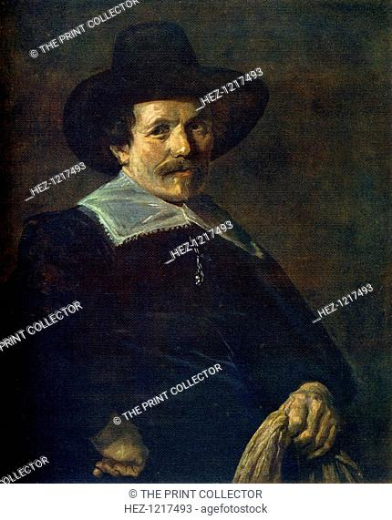 'Portrait of a Man holding Gloves', c1645, (1912). A colour print from Famous Paintings with an introduction by Gilbert Chesterton, (Cassell and Company, London