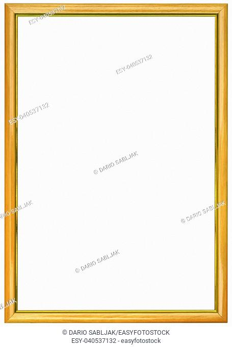 Simple Beige Empty Picture Frame Cutout