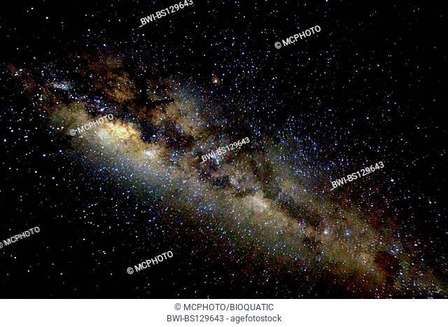 Our own galaxy the Milky Way, Tanzania, Lake Natron