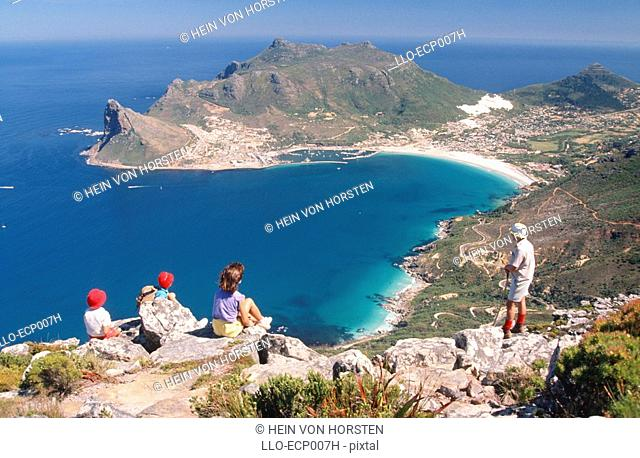 Aerial Scenic and Tourists - Peninsula  Hout Bay, Western Cape, South Africa