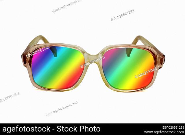 retro colored sunglasses
