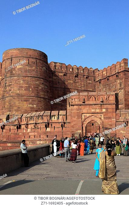 India, Uttar Pradesh, Agra, Fort, Amar Singh Gate