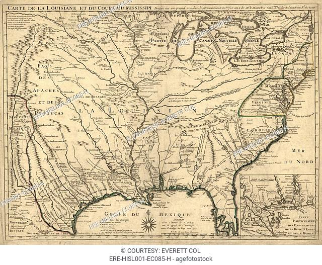 North America Map Mississippi River.Native American Mississippi River Stock Photos And Images Age