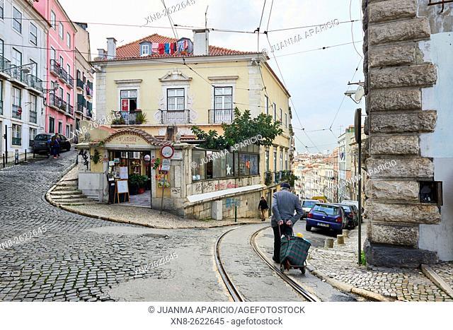 Street scene, Lisbon, Portugal