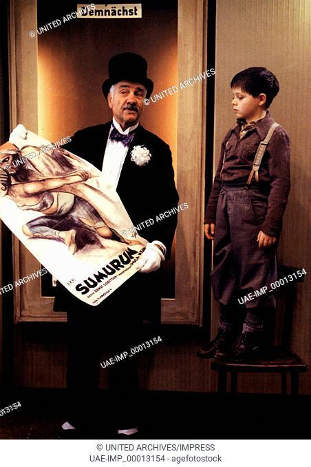 Der Kinoerzähler, (DER KINOERZÄHLER) D 1993, Regie: Bernhard Sinkel, ARMIN MUELLER-STAHL, ANDREJ JAUTZE, Stichwort: Zylinder, Plakat